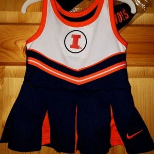 NWT Baby Girls Nike Illinois Cheerleader Outfit